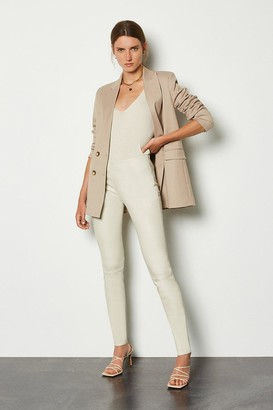 Karen Millen Stretch Leather Legging