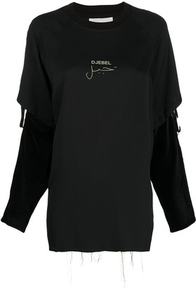 Song For The Mute Destroyed Layered Sweatshirt