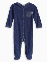 Splendid Baby Boy Indigo Coverall with Stripes