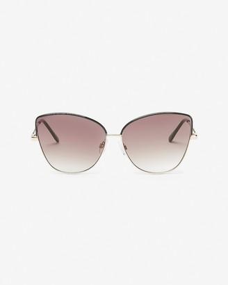Express Tinted Metal Cat Eye Sunglasses