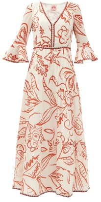 Le Sirenuse, Positano - Bella Paisley-print Cotton-crepe Maxi Dress - Orange Print