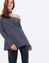 DECJUBA Harper Off-Shoulder Top