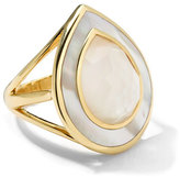 Ippolita 18k Ondine Teardrop Mother-of-Pearl Doublet & Slice Ring