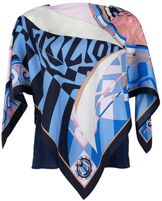Emilio Pucci Long Sleeve and Camisole Print Blouse