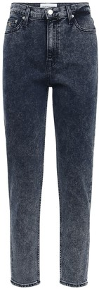 Calvin Klein Jeans Mom Stretch Cotton Denim Straight Jeans