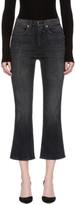 Khaite Black Benny Crop Flare Jeans