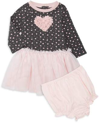 Pippa Pastourelle By & Julie Baby Girl's 2-Piece Heart Dress & Bloomers Set