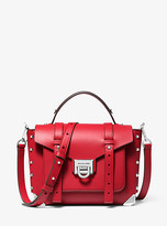 Michael Kors Manhattan Medium Leather Satchel