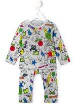 Stella McCartney 'Georgie and Macy' sticker design set - kids - Cotton - 6 mth