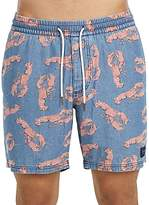 Barney Cools Poolside Lobster Print Drawstring Shorts