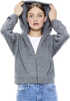 Alice + Olivia Kyle Zip Up Cropped Hoodie