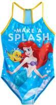 "Disney Disney's The Little Mermaid Girls 4-6x Ariel & Flounder ""Make A Splash"" Swimsuit"