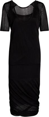 Bottega Veneta Ribbed-Knit Silk Midi Dress