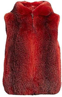 The Fur Salon Hooded Fox Fur Vest