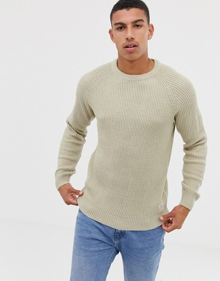 Jack and Jones Originals knitted sweater with ribbed detail