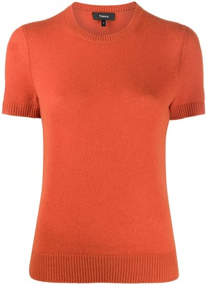 Theory Short-Sleeve Cashmere Jumper