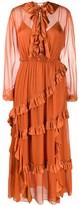 Temperley London tiered midi dress