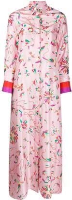 Giada Benincasa Floral-Print Maxi Shirt Dress