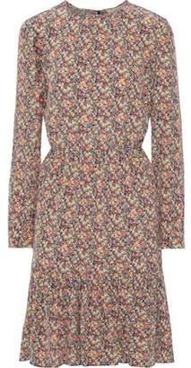 Vanessa Bruno Pleated Floral-print Silk Dress
