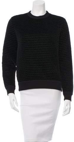 Givenchy Silk & Velvet Sweater