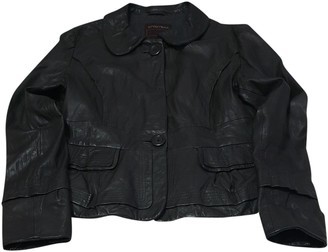 Sportmax Grey Leather Jacket for Women