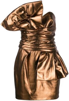 Alexandre Vauthier Metallic Strapless Dress