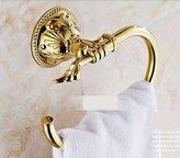Rozinsanitary rozin Gold Finish Brass Bath Towel Rack Wall Mount Clothes Hanger