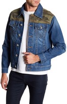 True Religion Camo Trucker Denim Jacket