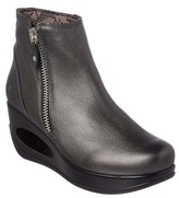 Fly London Hulk Leather Wedge Bootie.