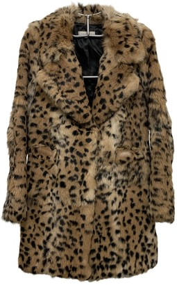 Sandro Camel Rabbit Coat for Women