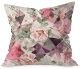 DENY Designs Geometric Shapes and Flowers Throw Pillow