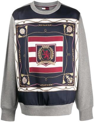 Tommy Hilfiger Printed Panel Sweatshirt