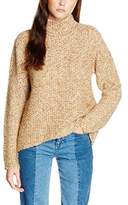 VILA CLOTHES Women's VILOVABLE L/S KNIT TOP Jumper, Beige (Sandshell)