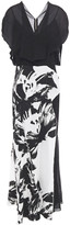 Thumbnail for your product : Roland Mouret Paneled Printed Crepe And Floral-jacquard Maxi Dress