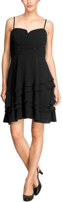 Comma Women's Pinafore dress Sleeveless Evening Dress - Black - Schwarz (9999 black) - 12 (Brand size : 38)
