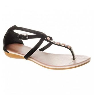 Miss Diva Flat Wedge Heel Toe Post T-Bar Ankle Strap Sandal
