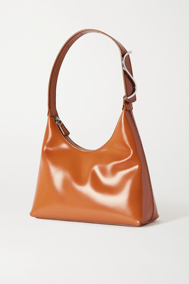 STAUD Scotty Glossed-leather Shoulder Bag