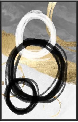 Jonathan Bass Studio Gold Circles I Gold Leaf