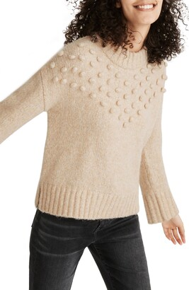 Madewell Placed Bobble Mock Neck Sweater