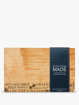 Just Slate The Company Oak Wood Cheese Board, L30cm, Natural
