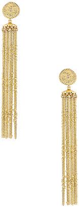 Luv Aj Pave Coin Fringe Earrings