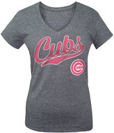 5th & Ocean Girls' Chicago Cubs Script T-Shirt