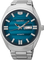 Seiko Recraft Mens Blue Dial Stainless Steel Automatic Watch SNKN03
