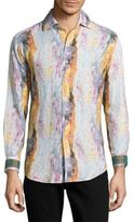 Robert Graham Printed Linen Shirt