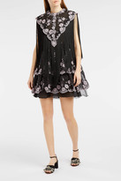 Giamba Fringe and Lace Babydoll Dress