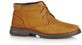 Hush Puppies Brown Suede Lace Up Boots