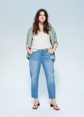 MANGO Organic cotton cardigan