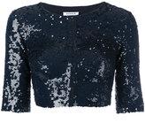 P.A.R.O.S.H. sequins embellished cropped jacket - women - Polyamide/Spandex/Elastane/PVC/Sequin - S