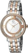 Cabochon Women's 80288-SR-02S Carnival Analog Display Quartz Two Tone Watch