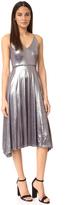 Halston Strappy V Neck Midi Dress